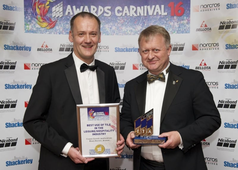 TTA Awards 2016-Best Use of Tile in the Leisure-Hospitality Industry, Richard Wallis and Steve Whitehurst