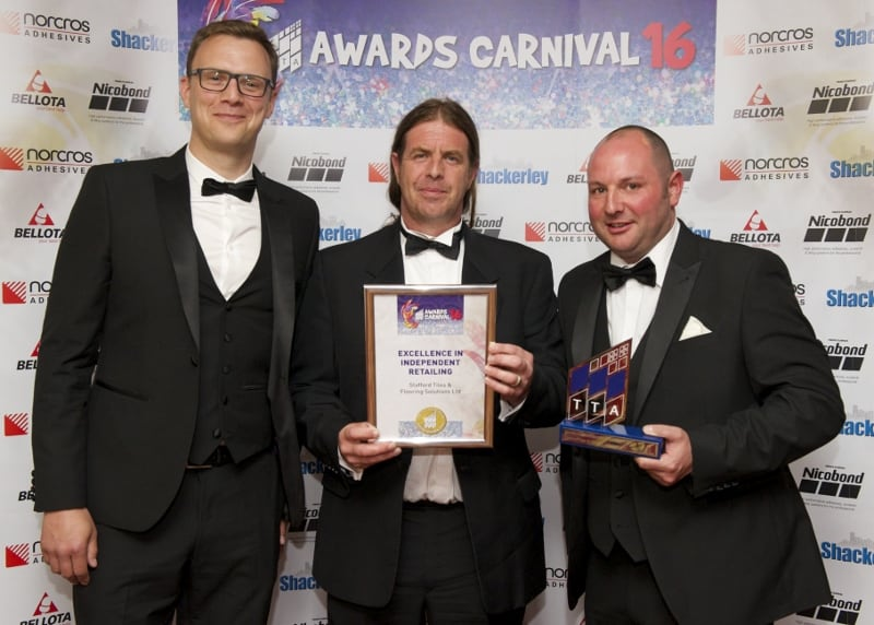 TTA Awards 2016-Excellence in Independent Retailing, Chris Baldwin, Bob Sewell and Peter Davis