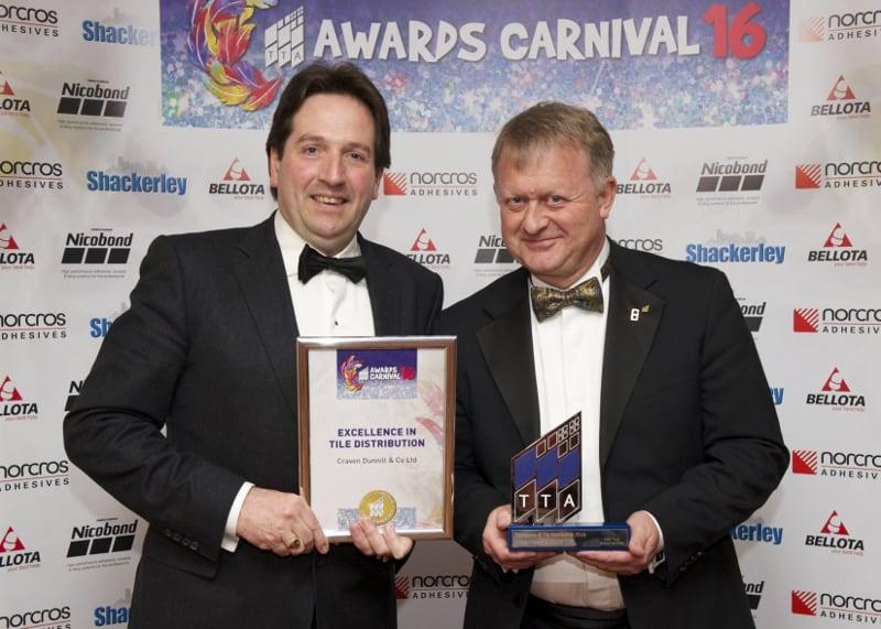 TTA Awards 2016-Excellence in Tile Distribution, JP Kennedy and Steve Whitehurst