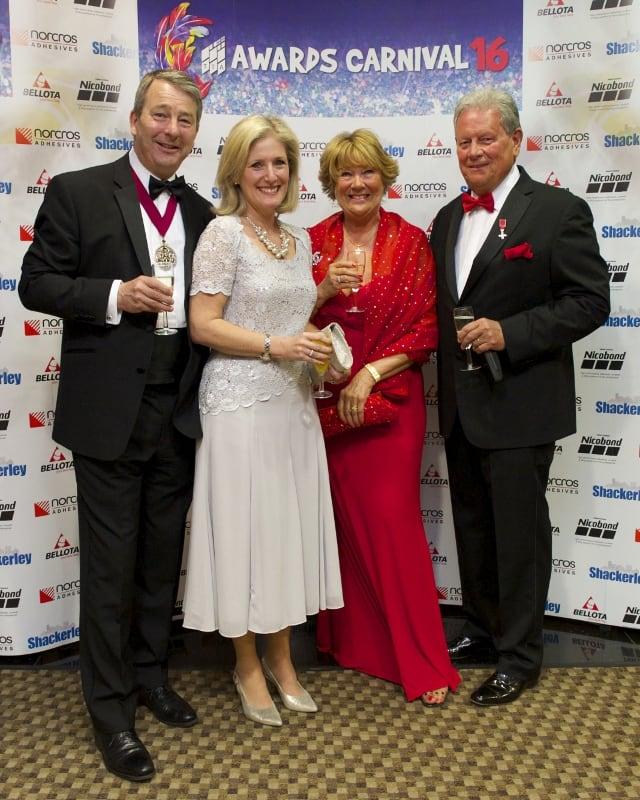 TTA Awards 2016, Tom Rider, Caroline Rider, Christine Howard and Bob Howard