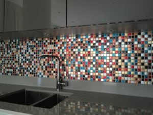 multi coloured mosaic tiles