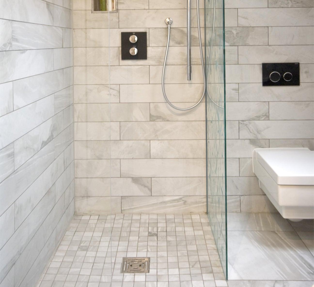 Vintage inspired diy bathroom remodel before and after for Bathroom tile inspiration pictures